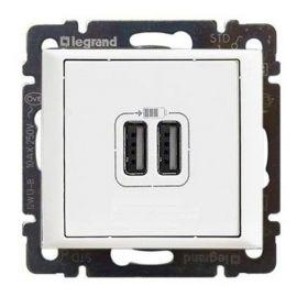 Toma cargador USB Blanco Legrand Valena 770470