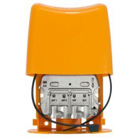Mezclador para mástil 3 entradas VHF-UHF-UHF Televes 404110