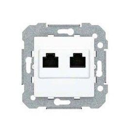 Tapa Para 2 Conectores RJ11/RJ45 tipo Keystone BJC Viva 23682-2