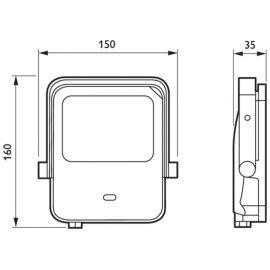 PHILIPS PHILIPS Proyector Led Mini con sensor 10W 3000k IP65 Philips Ledinaire BVP154