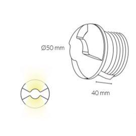 Regletas y Apliques LED KOHL-LIGHTING Aplique de pared Lasso LED 3W luz cálida K50700.W de Kohl Lighting