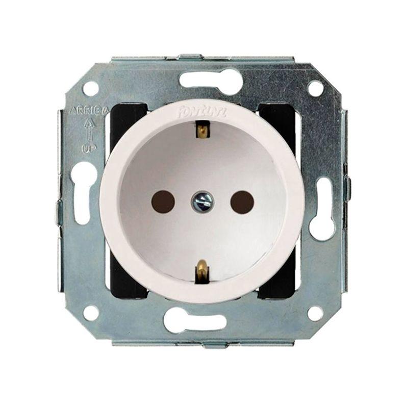 Interruptores y Enchufes por marca FONTINI Enchufe 2P+TT blanco Fontini Venezia 35-212-05-2