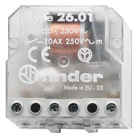Telerruptor electromecánico empotrar 1 NA 230V Finder