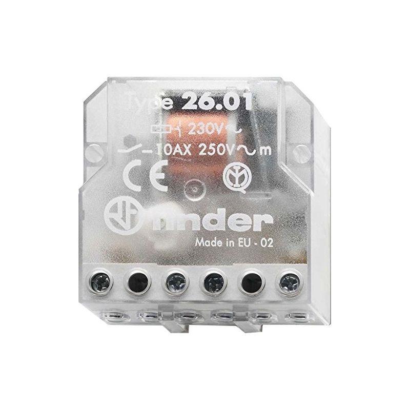 Telerruptores FINDER Telerruptor electromecánico empotrar 1 NA 230V Finder