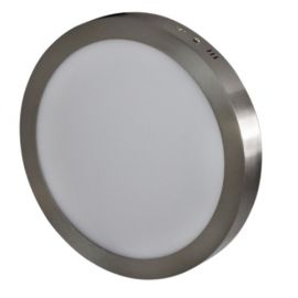 Downlight superficie Niquel 18W 4000K 225mm Breno Prilux