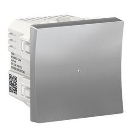 Interruptor Wiser Aluminio Schneider New Unica NU353730