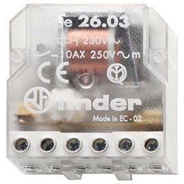 Telerruptor electromecánico empotrar 1 NA+1 NC 230V Finder
