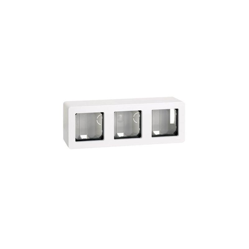 Interruptores y Enchufes por marca SIMON Zocalo superficie 3 elementos blanco Simon 27 27831-35