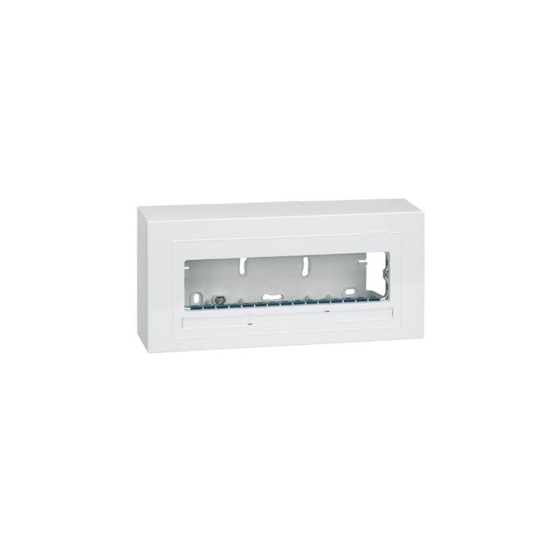 Interruptores y Enchufes por marca SIMON Pack caja superficie 1 fila 4 elementos Simon 27 Cent. 27731-65