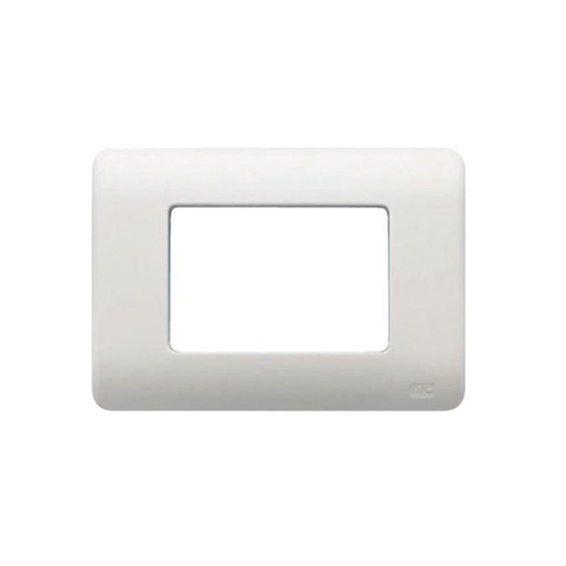 Interruptores y Enchufes por marca BJC Marco caja americana 3 modulos estrechos blanco BJC Sol Teide 16353