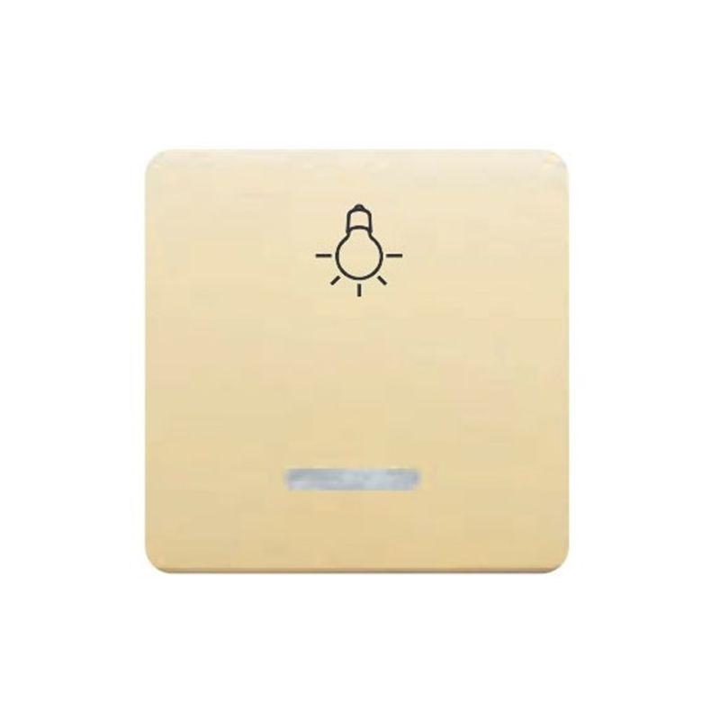 Interruptores y Enchufes por marca BJC Tecla pulsador luz ancho beige con luminoso  BJC Sol Teide 17717-AL