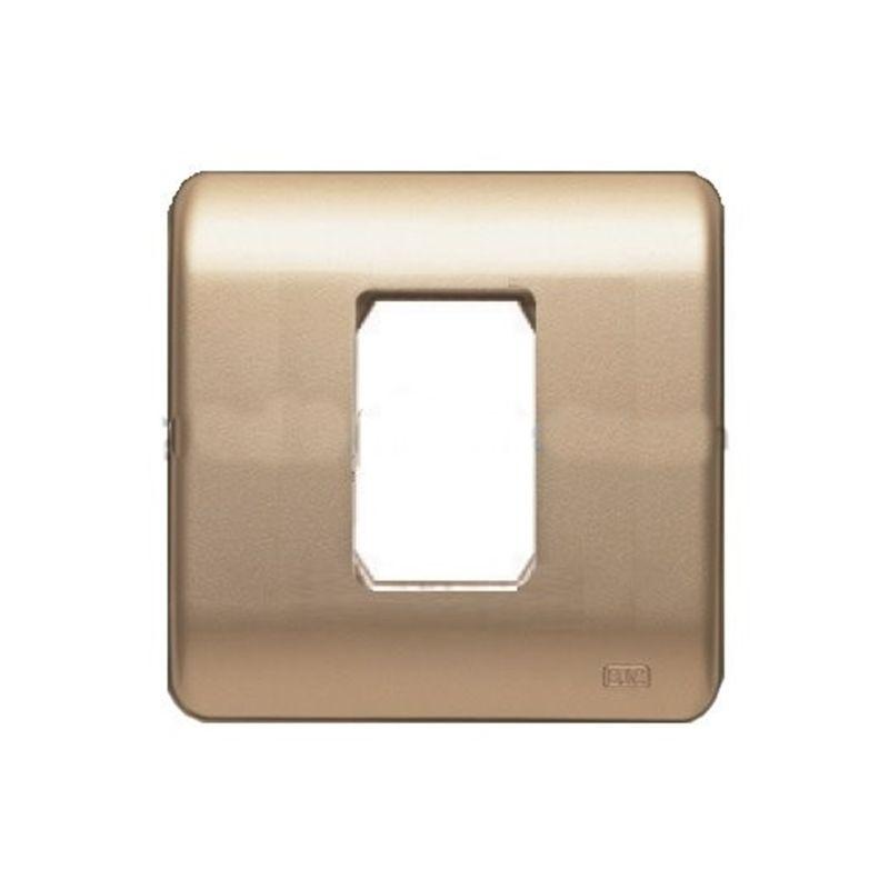 Interruptores y Enchufes por marca BJC Marco 1 modulo estrecho dorado BJC Sol Teide 16000-DR