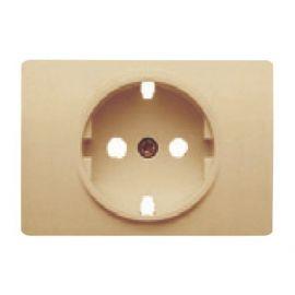 Tapa base enchufe 2P+T/TT lateral dorado perlado BJC Coral 21724-DP