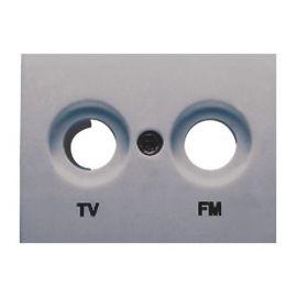 Tapa toma TV-FM gris sombra BJC Coral 21330-GS