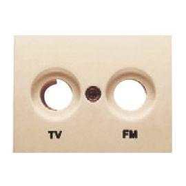 Tapa toma TV-FM dorado perlado BJC Coral 21330-DP