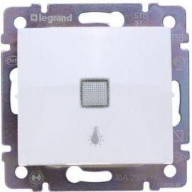 Pulsador Blanco luminoso grabado luz Legrand Valena 774413