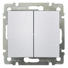 Doble Interruptor Blanco Legrand Valena 774405
