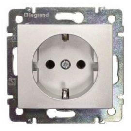 Base enchufe 2P+T lateral Aluminio Brillante Legrand Valena 770121