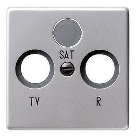 Tapa TV-R-SAT Alumino Brillante Legrand Valena 770186