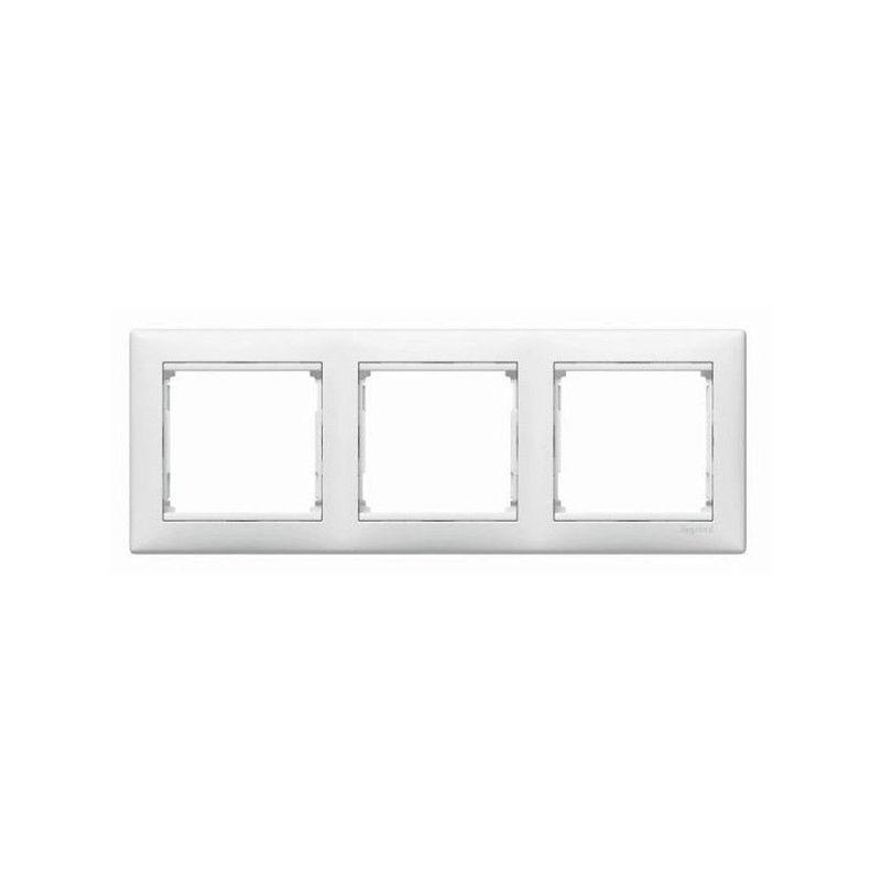 Interruptores y Enchufes por marca LEGRAND Marco 3 elementos horizontal Blanco Legrand Valena 774453
