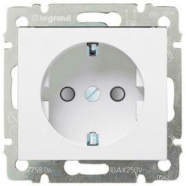 Base enchufe 2P+T lateral embornamiento automatico Blanco Legrand Valena 774222