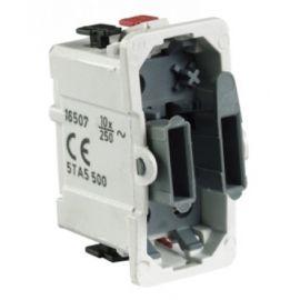 Interruptores y Enchufes por marca BJC Cruzamiento BJC series Sol, Coral y Rehabitat 16507