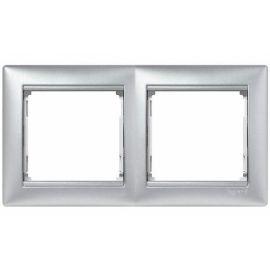Marco 2 elementos aluminio Valena Legrand 770152