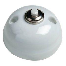 Pulsador de botón porcelana blanco Fontini Garby 30-310-17-2