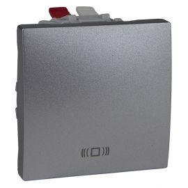 Pulsador ancho grabado timbre Aluminio Schneider Unica-Top U3.206.30C