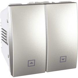 Pulsador doble persianas Aluminio Schneider Unica-Top U3.207.30