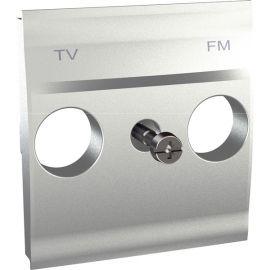 Tapa TV/FM Aluminio Schneider Unica-Top U9.440.30