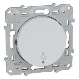 Pulsador símbolo luz con LED blanco Schneider Odace S520296