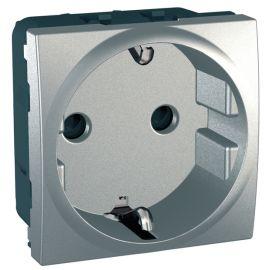 Base enchufe 2P+TT Aluminio Schneider Unica-Top MGU3.037.30