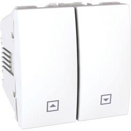 Pulsador doble persianas Blanco Schneider Unica U3.207.18