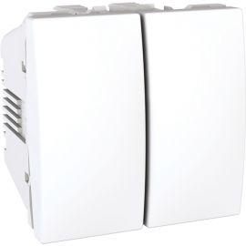 Conmutador doble Blanco Schneider Unica U3.213.18