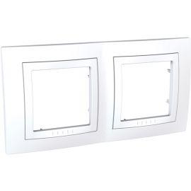 Marco 2 elementos horizontal Blanco Schneider Unica-Basic U2.004.18