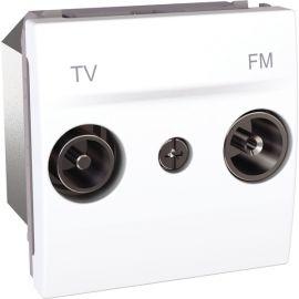 Toma TV/FM intermedia Blanco Schneider Unica U3.453.18