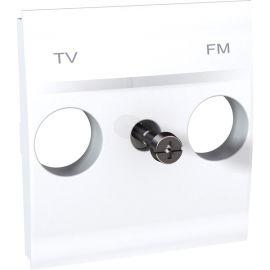 Tapa toma ancho TV-FM Blanco Schneider Unica U9.440.18