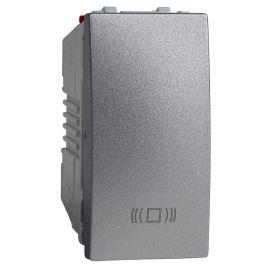 Pulsador estrecho Aluminio grabado timbre Schneider Unica-Top U3.106.30C
