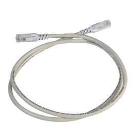 Latiguillo RJ45 UTP 1 metro cat. 6 color gris Schneider