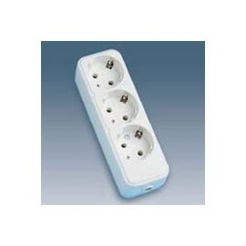 Base 3 tomas enchufes 2P+T 16A sin cable Simon 10403-31