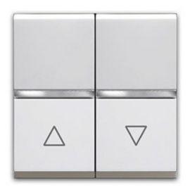 Interruptor doble para persianas Blanco Niessen Zenit N2244.1 BL