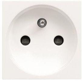Interruptores y Enchufes por marca ABB NIESSEN Base enchufe ancho 2P+T Frances Blanco Niessen Zenit N2287 BL