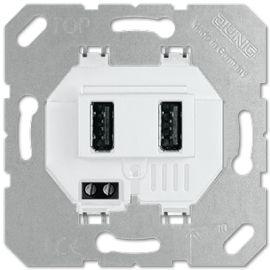 Jung USB 3-2 WW Mecanismo Cargador para 2 Tomas USB tipo A Blanco Alpino