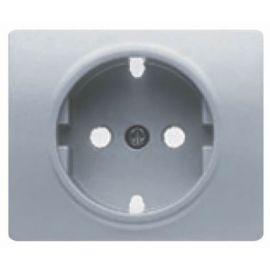 Tapa base enchufe schuko 2P+T seguridad Aluminio Mercurio BJC Iris 18724-MA