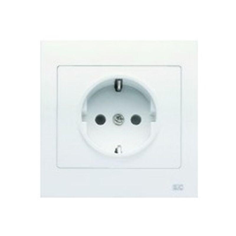 Interruptores y Enchufes por marca BJC Base enchufe schuko 2P+TT monobloc Blanco BJC Iris 18024