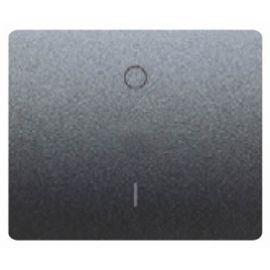 Tecla interruptor bipolar Negro Antracita BJC Iris 18708AT