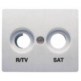 Tapa toma R/TV-SAT Aluminio Mercurio BJC Iris 18320-MA