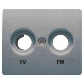 Tapa toma TV-FM Acero Neptuno BJC Iris 18330AN