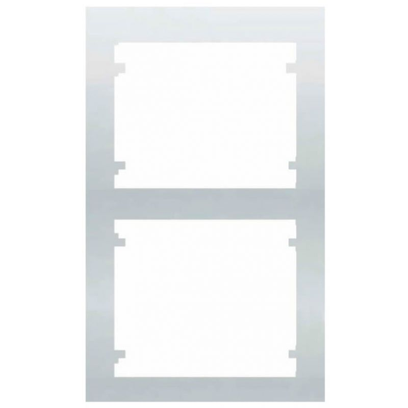Interruptores y Enchufes por marca BJC Marco 2 Elementos vertical Blanco BJC Iris 18102